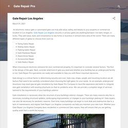 Gate Repair Los Angeles