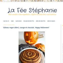 La Fée Stéphanie: Gâteau vegan zébré, courge et chocolat. Happy Halloween!