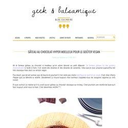 Gâteau au chocolat hyper moelleux pour le goûter Vegan