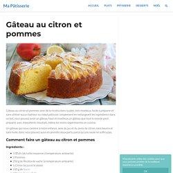 Gâteau au citron et pommes