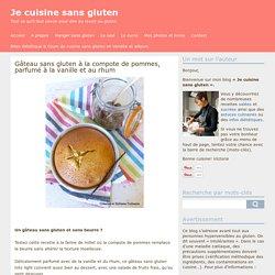 Gâteau sans gluten à la compote de pommes, parfumé à la vanille et au rhum