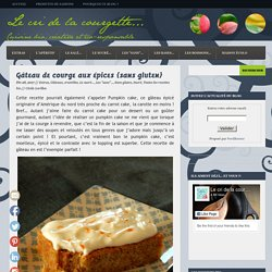 Gâteau de courge aux épices {sans gluten}