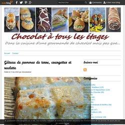 Gâteau de pommes de terre, courgettes et raclette -
