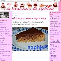 Gâteau aux Daims façon Ikéa - Les bonheurs de SophieR