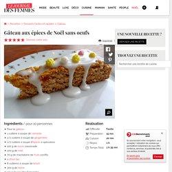 Gâteau aux épices de Noël sans oeufs