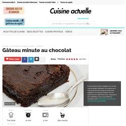 Gâteau minute au chocolat, facile et pas cher