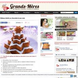 Gâteau de Noël au chocolat et aux noix - Recette