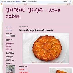 Gâteau à l'orange, à l'amande et au miel