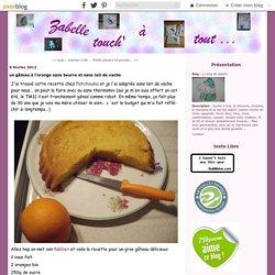 Gâteau à l'orange sans beurre et sans lait de vache