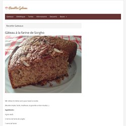 Gâteau à la farine de Sorgho