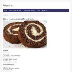Gâteau roulé au chocolat façon tiramisu