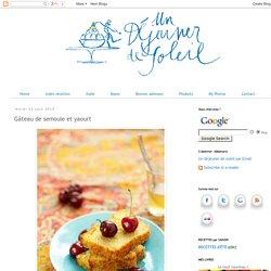Gâteau de semoule et yaourt