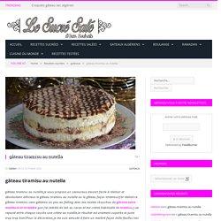 gâteau tiramisu au nutella