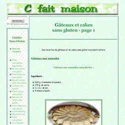 Gâteaux sans gluten et sans produit laitier