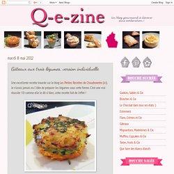 Q-e-zine: Gâteaux aux trois légumes, version individuelle