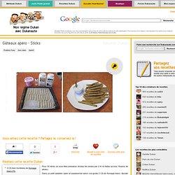 Gâteaux apéro - Sticks, recette Dukan - Recettes Dukan pour régime hyper protéiné du Dr Dukan
