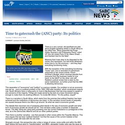 Time to gatecrash the (ANC) party: Its politics :Tuesday 13 March 2012