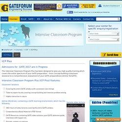 GATEFORUM's Intensive Classroom Program For GATE 2016