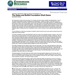 The Gates and Buffet Foundation Shell Game