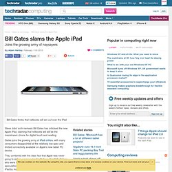 Bill Gates slams the Apple iPad