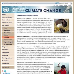 Gateway to the UN System's Work on Climate Change - The Earth's Changing Climate