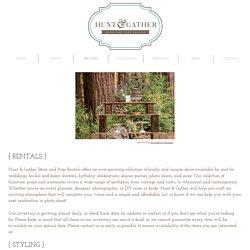 hunt & gather decor and prop rentals