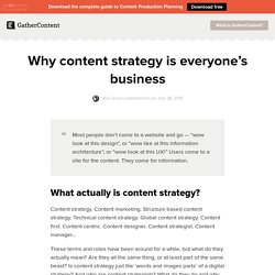 Why content strategy is everyone's business