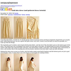 Gold dots dress (and gathered dress tutorial)