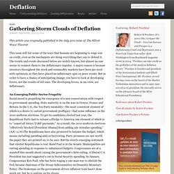 Gathering Storm Clouds of Deflation