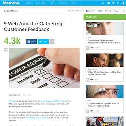 9 Web Apps for Gathering Customer Feedback