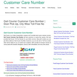 Gati Courier Customer Care Number