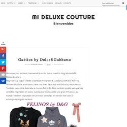 Gatitos by Dolce&Gabbana