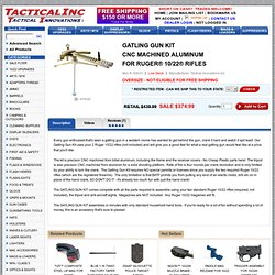 GATLING GUN KIT CNC MACHINED ALUMINUM FOR RUGER® 10/22® RIFLES