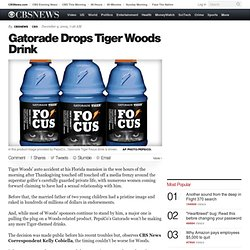 Gatorade Drops Tiger Woods Drink