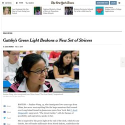 Gatsby's Green Light Beckons a New Set of Strivers