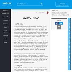GATT et OMC