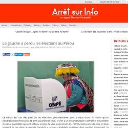 La gauche a perdu les élections au Pérou