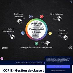 COPIE - Gestion de classe de Nancy Gaudreau par Boulianne-Roussel, Marc-André sur Genially