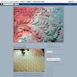 """Diane Gaudynski """"A New Tradition in Quilting"""": Relaxed Diane-shiko"""