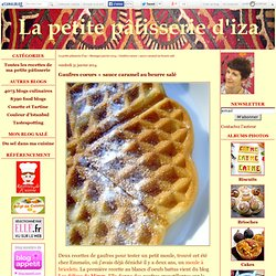 Gaufres coeurs + sauce caramel au beurre salé
