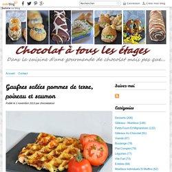 Gaufres salées pommes de terre, poireau et saumon - Blog cuisine avec du chocolat ou Thermomix mais pas que
