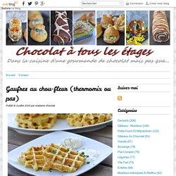 Gaufres au chou-fleur (thermomix ou pas) - Blog cuisine avec du chocolat ou Thermomix mais pas que