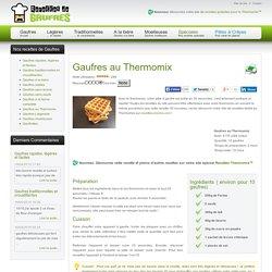Gaufres au Thermomix - Recettes de Gaufres