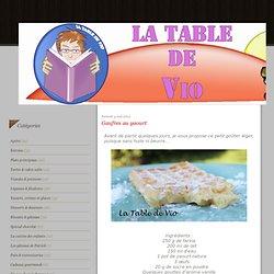 Gaufres au yaourt - La table de Vio