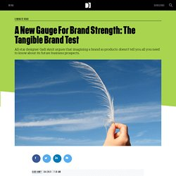 A New Gauge For Brand Strength: The Tangible Brand Test