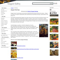 Paul Gauguin Paintings, Famous Gauguin Paintings