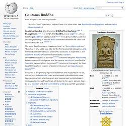 Gautama Buddha - Philosopher