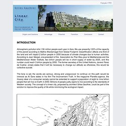 The linear city project by Gilles Gauthier - A solution to urban development