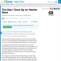 The Day I Gave Up on Hacker Rank - DZone Agile