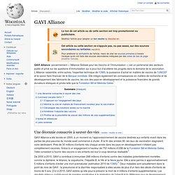 GAVIalliance CoFinance mondiale organisée